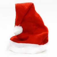 Wholesale Soft Christmas Cap Adult Christmas Hats Santa hat inches cm