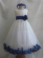 Wholesale New Arrival Lovely Cute A line Flower Girl Dresses f1