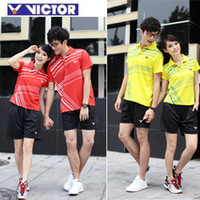 Wholesale 2012 VICTOR badminton clothing men and women couples suite high quality sets