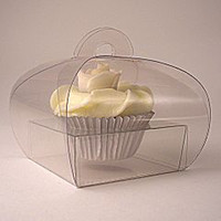 Wholesale Hot Clear PVC Cupcake Boxes with PVC Insert JCO B
