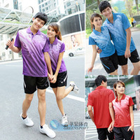 Wholesale Victor badminton clothing men women suit high quality sets
