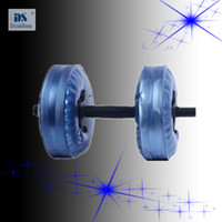 Wholesale by EMS kg game dumbbell Water Poured Dumbbell have RoHS approved pairs