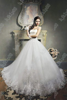 beautiful bride gowns - NEW Beautiful Cap sleeve Beading Applique Embroidery Organza Wedding dresses Bride dress Gowns