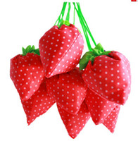 Wholesale Reusable shopping bags Folding strawberry bag lovely fruit bags easy to carry