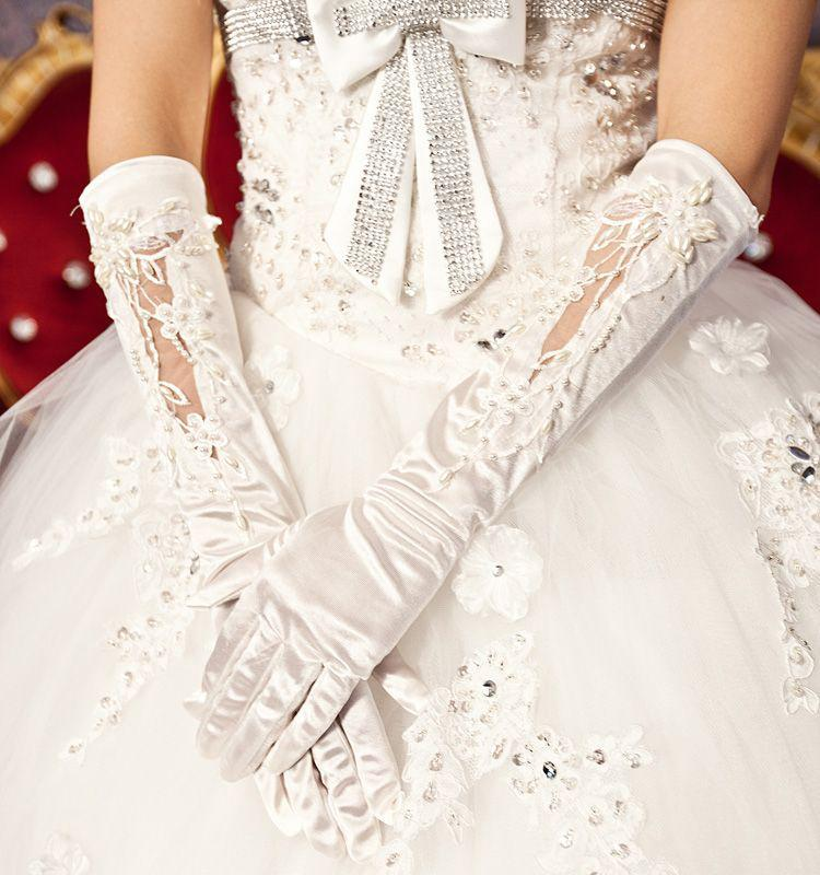 wedding dress bridal gloves