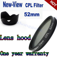 Wholesale Polarizering mm Circular CPL lens Filters lens hood for canon EF mm f