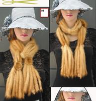Wholesale Figure fur scarf stereotype slim mink scarf woman flowers woven collar