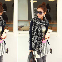 Wholesale Skull Lady scarf Woman scarves Autumn Winter Scarf Skull scarf Shawl Elegant Silk Shawl
