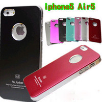 For Apple iPhone air jacket iphone case - luxury aluminum air jacket metal Hard Case Back with ring round Hole cover for iphone5 iphone