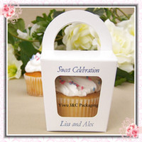 Wholesale Party Cupcake Boxes with Round Handle Tote cupcake box JCO