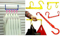 Wholesale color magic five hole clothes hanger multi function clothes rack