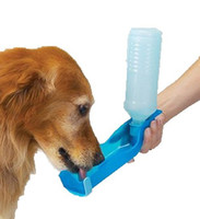 Other Chews  1pcs Colorful Pet Travel Bowl Dog Water Feeding Drink Bottle Cat kettle Dispenser 500ml Free shipping