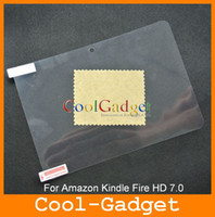 Wholesale Clear Screen Guard Protector film Cover for Amazon Kindle Fire HD with RP MSP547