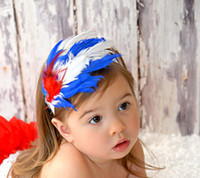 Wholesale TOP BABY feather headband Christmas hair band babies kids hair ornaments cute Hair hands