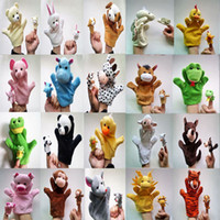 Wholesale Figures Toy Hand Finger Puppets Cloth Toy Baby Stories Helper Doll Design Christmas Gift B264