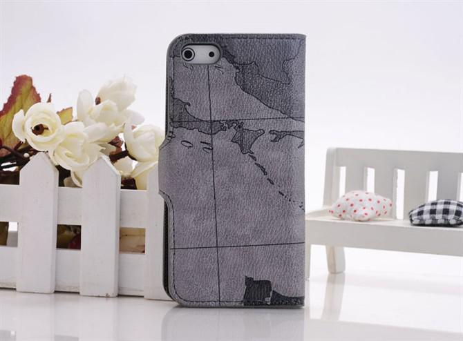 Wholesale High Quality World Map Style Flip Leather Case For ...
