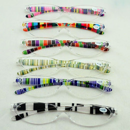 Plastic Fashion Rainbow Reading glasses, Retro Color Presbyopic Glasses, 12pcs lot, Free shipping