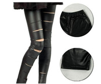 Women Skinny,Slim Other HOT SALE! Spring and shall matte leather-pants holes Leggings pantyhose tights thin Fashion and Sexy