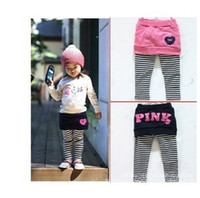 Wholesale 2 Colors Leggings Letter Striped Baby Tights Winter Tights