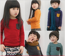 Wholesale Girl s shirt Children clothes Baby long sleeve autumn shirt warm jacket colors