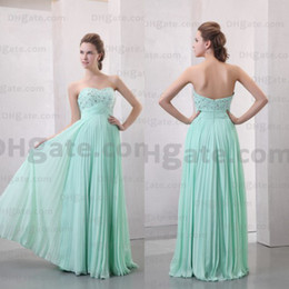 Promotion Sage Fashion A-line One Shoulder Floor Length Chiffon Cheap Sexy Prom Evening Dress