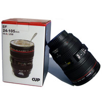 Wholesale Collectors Canon Travel Mug Lens Cup Creative Cup Black