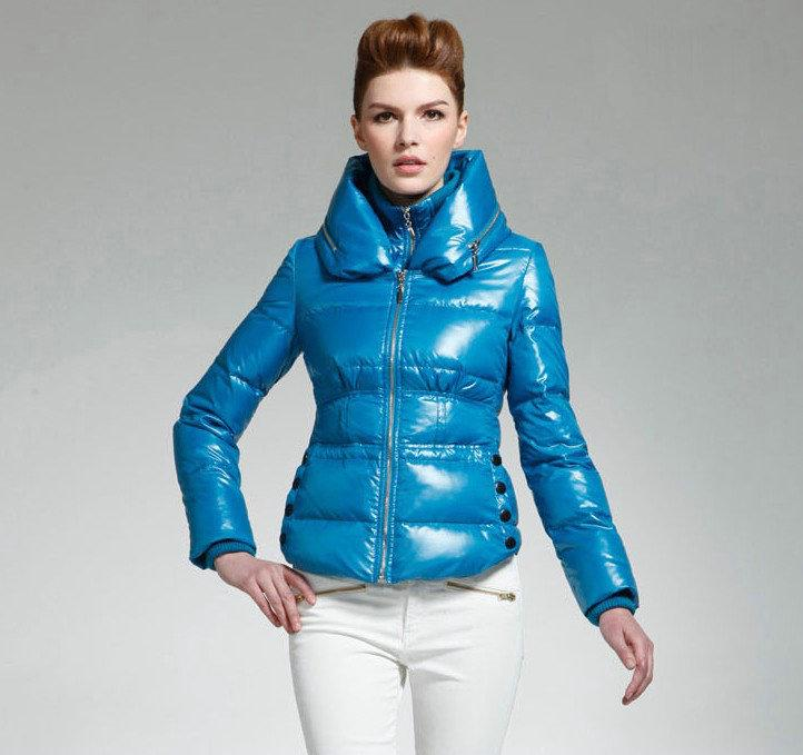 Down Jacket Women Zipper Windproof Collar Down Jacket Sale Winter
