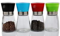 Wholesale Manual Glass Pepper Salt Spice Grinder Mill Hand Pepper Herb Mill High quality