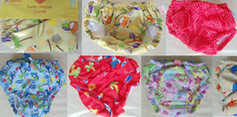 Wholesale Baby Swim Diaper Cover Baby Boys Girls Swim Panty Lovely Printing Rope adjustable Design Size S M L