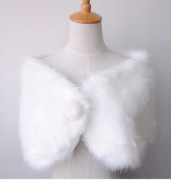 2018 Free shipping Winter Warm White faux fur wedding bridal Bridal Shawl Wrap Shawl Bolero Tippet