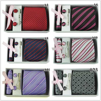 Wholesale Men s Jacquard Necktie Classic Mens Necktie Tie amp Tie Clips amp Cufflinks amp Hanky styles Gift