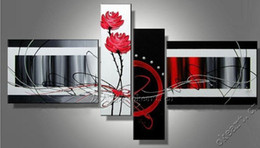 Wholesale 100 hand draw abstract modern oil painting on canvas abstract flower love