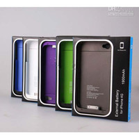 Wholesale 11 colors New mah External Backup Battery Charger Case For iphone S gray red black color
