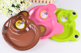 Wholesale Kid Plastic Dinning set divided Plate Frog Divided Dinner Plates cm Childrens Tray Plate