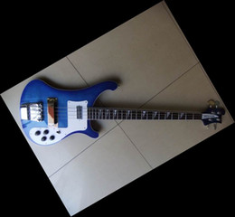 Newest arrival 2012 4 String 4003 Electric Bass Guitar stereo, varitone blue