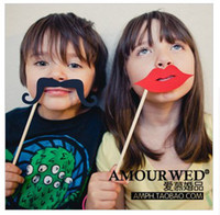 Wholesale Hot Sale MUSTACHE ON A STICK Wedding Party Photography Photo Booth Prop Mask