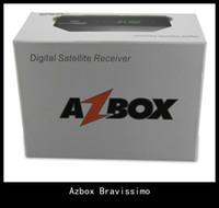 Wholesale Azbox Bravissimo Satellite Receiver Twin Tuner Support Nagra3 Decoder Az Box Bravissimo HD Linux OS