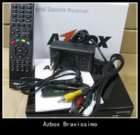 Wholesale Azbox Bravissimo Satellite Receiver Twin Tuner Support Nagra3 Decoder DHL freeshipping