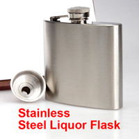 Wholesale 100 Drink Liquor Whisky Alcohol Stainless Steel oz Hip Flask Screw Cap Funnel Cap