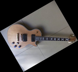 Mahogany Body Unfinished Electric Guitar Kit With Flamed Maple Top with Dual Humbuckers
