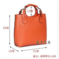 Red real leather designer handbags - 2015 new RETRO PACK WOMEN SHOULDER BAG cow leather designer handbags REAL LEATHER bags tote bag