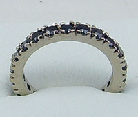 Wholesale Fashion jewelry ct Woman s black gemstone ring kt mark white Gold rings Free Shi