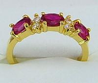 al por mayor oro al por mayor 14k-Venta al por mayor - joyería de la manera 2.06ct Anillo de oro amarillo de la piedra preciosa de la marca de fábrica 14kt anillos de oro libre Shi