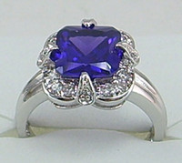 Gift 14kt gold jewelry - Fashion jewelry ct Woman s Purple gemstone ring kt mark white Gold rings Free Shi