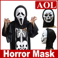 Wholesale 500pcs HOT Halloween Mask Super Scary Mask Costume Party Horror masks Party Devil Scream mask