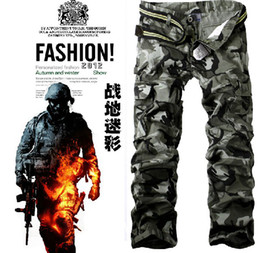 Wholesale New Fashion Multi Pocket Male Camouflage Pants Casual Overalls Men s Pants Colors Size