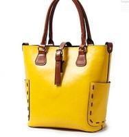Wholesale Bucket bag cowhide WOMEN SHOULDER BAG cow leather designer handbags REAL LEATHER bags tote bag