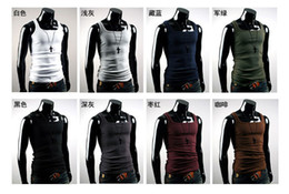 Wholesale Men s Vest Shirt Mens MODEL Slim Straitjacket Corsetry Sleeveless Garment T shirts