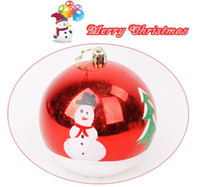 Wholesale The Christmas tree decorations Christmas decoration ball large snowman Christmas ball cm