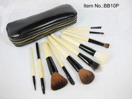 Wholesale 50 Sets New Pieces Professional Brush sets Leather pouch With Box